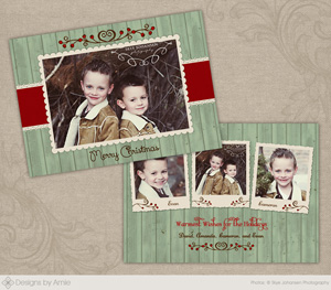 rustic berry christmas card - Rustic Christmas Cards